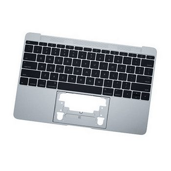 661-02242 Top Case with Keyboard (Silver) for MacBook 12-inch Early 2015 A1534 MF855LL/A, MF865LL/A