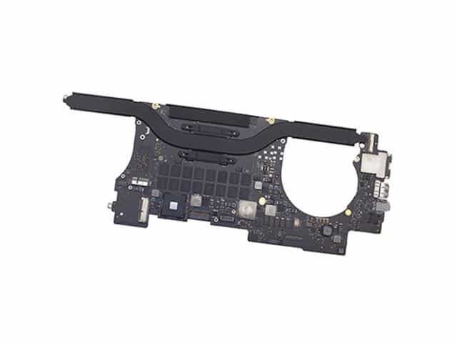 a photo of a logic board for mac computers
