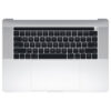 661-10347 Top Case w/ Battery (Silver) for MacBook 15-inch Mid 2018 A1990 MR932LL/A, MR942LL/A, BTO/CTO